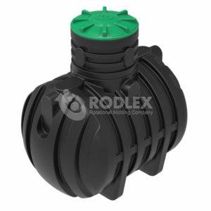 Накительный септик для сбора сточных вод 3000 литров РОДЛЕКС пластиковый с горловиной 500 мм и винтовой крышкой.